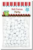 Hot Cocoa Party - Custom Christmas Treat Bag Topper