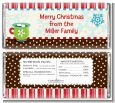 Hot Cocoa Party - Personalized Christmas Candy Bar Wrappers thumbnail