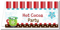 Hot Cocoa Party - Personalized Christmas Place Cards