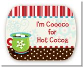 Hot Cocoa Party - Personalized Christmas Rounded Corner Stickers