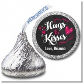 Hugs and Kisses - Hershey Kiss Valentines Day Sticker Labels