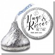 Hugs & Kisses From Mr & Mrs - Hershey Kiss Bridal Shower Sticker Labels thumbnail