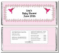 Hummingbird - Personalized Baby Shower Candy Bar Wrappers