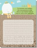 Humpty Dumpty - Baby Shower Notes of Advice