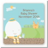 Humpty Dumpty - Square Personalized Baby Shower Sticker Labels