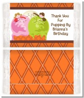 Ice Cream - Personalized Popcorn Wrapper Birthday Party Favors