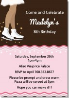 Ice Skating African American - Birthday Party Invitations
