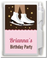 Ice Skating African American - Birthday Party Personalized Notebook Favor