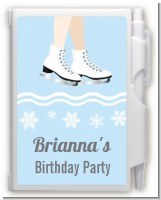 Ice Skating with Snowflakes - Birthday Party Personalized Notebook Favor