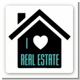 I Love Real Estate - Square Personalized Real Estate Sticker Labels thumbnail