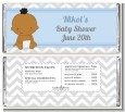 It's A Boy Chevron African American - Personalized Baby Shower Candy Bar Wrappers thumbnail