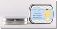 It's A Boy Chevron Asian - Personalized Baby Shower Mint Tins