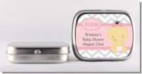 It's A Girl Chevron Asian - Personalized Baby Shower Mint Tins