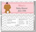 It's A Girl Chevron African American - Personalized Baby Shower Candy Bar Wrappers thumbnail