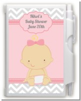It's A Girl Chevron - Baby Shower Personalized Notebook Favor