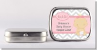 It's A Girl Chevron - Personalized Baby Shower Mint Tins