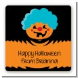 Jack O Lantern Clown - Square Personalized Halloween Sticker Labels thumbnail