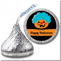 Jack O Lantern Clown - Hershey Kiss Halloween Sticker Labels