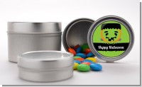 Jack O Lantern Frankenstein - Custom Halloween Favor Tins