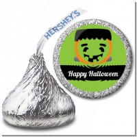 Jack O Lantern Frankenstein - Hershey Kiss Halloween Sticker Labels