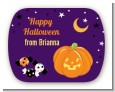 Jack O Lantern - Personalized Halloween Rounded Corner Stickers thumbnail