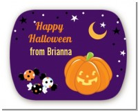 Jack O Lantern - Personalized Halloween Rounded Corner Stickers
