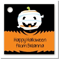 Jack O Lantern Mummy - Personalized Halloween Card Stock Favor Tags