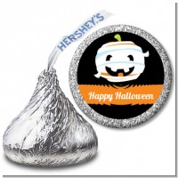 Jack O Lantern Mummy - Hershey Kiss Halloween Sticker Labels