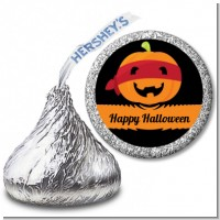 Jack O Lantern Superhero - Hershey Kiss Halloween Sticker Labels