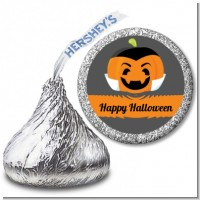 Jack O Lantern Vampire - Hershey Kiss Halloween Sticker Labels