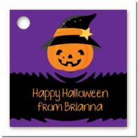 Jack O Lantern Witch - Personalized Halloween Card Stock Favor Tags