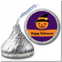 Jack O Lantern Witch - Hershey Kiss Halloween Sticker Labels