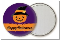 Jack O Lantern Witch - Personalized Halloween Pocket Mirror Favors