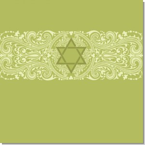 Jewish Star of David Sage Green Theme