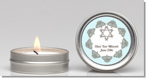 Jewish Star of David Blue & Brown - Bar / Bat Mitzvah Candle Favors