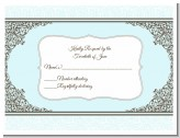 Jewish Star of David Blue & Brown - Bar / Bat Mitzvah RSVP Cards