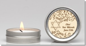 Jewish Star of David Brown & Beige - Bar / Bat Mitzvah Candle Favors