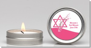 Jewish Star of David Cherry Blossom - Bar / Bat Mitzvah Candle Favors