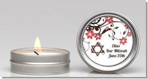 Jewish Star of David Floral Blossom - Bar / Bat Mitzvah Candle Favors