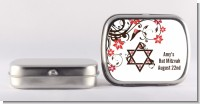 Jewish Star Of David Floral Blossom - Personalized Bar / Bat Mitzvah Mint Tins