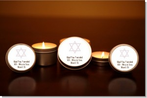 Jewish Star of David Pink - Bar / Bat Mitzvah Candle Favors