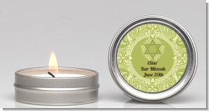 Jewish Star of David Sage Green - Bar / Bat Mitzvah Candle Favors