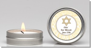 Jewish Star of David Yellow & Brown - Bar / Bat Mitzvah Candle Favors