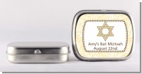 Jewish Star of David Yellow & Brown - Personalized Bar / Bat Mitzvah Mint Tins