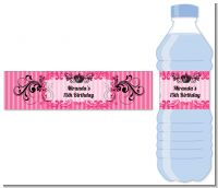 Juicy Couture Inspired - Personalized Birthday Party Water Bottle Labels