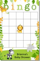Jungle Party - Baby Shower Gift Bingo Game Card