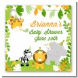 Jungle Party - Personalized Baby Shower Card Stock Favor Tags thumbnail