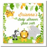 Jungle Party - Personalized Baby Shower Card Stock Favor Tags