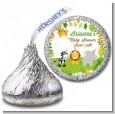Jungle Party - Hershey Kiss Baby Shower Sticker Labels thumbnail