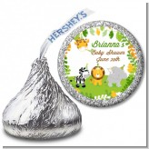 Jungle Party - Hershey Kiss Baby Shower Sticker Labels